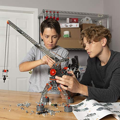 51uOvdy TYL. AC  - Erector by Meccano Super Construction 25-In-1 Motorized Building Set, Steam Education Toy, 638 Parts, For Ages 10+