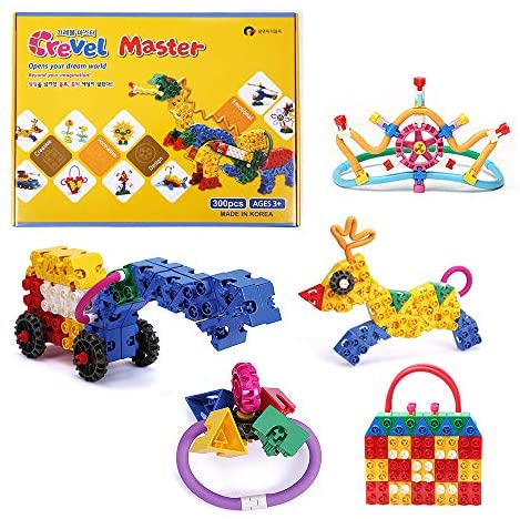 51v0T+jD+mL. AC  - CREVEL TOY 300pcs Creative Thinking Emotional Educational Toy Building Toy Building Blocks / Easy to disassemble to Protect Kid's Nails / Creative Construction Toys for Kids