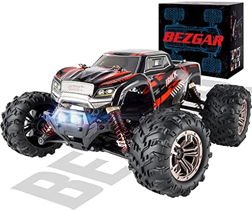 51vrLQvF+8S. AC  - BEZGAR 5 Hobby Grade 1:20 Scale Remote Control Truck, 4WD High Speed 30+ Kmh All Terrains Electric Toy Off Road RC Monster Vehicle Car Crawler with Rechargeable Batteries for Boys Kids and Adults