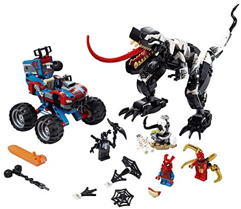 51wauOxg+mL. AC  - LEGO Marvel Spider-Man Venomosaurus Ambush 76151 Building Toy with Superhero Minifigures; Popular Holiday and Birthday Present for Kids who Love Spider-Man Construction Toys, New 2020 (640 Pieces)