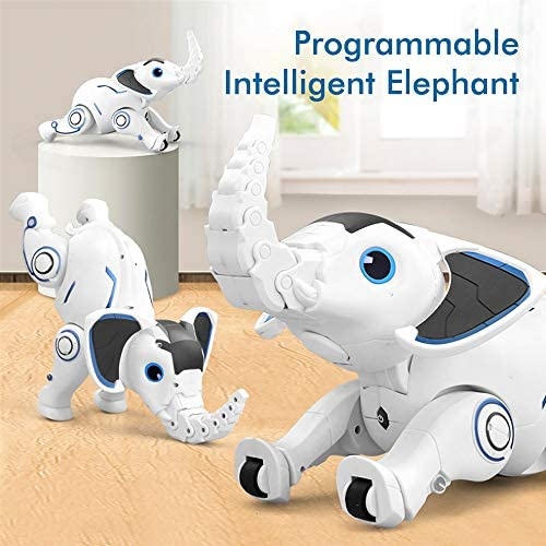 51xCWcfP4pL. AC  - WomToy Remote Control Robot Elephant Toy, RC Robotic Toys Singing Dancing Interactive Children Toy Early Educational Imitates Animals for Boys and Girls, Ages 3 and Up (Elephant)
