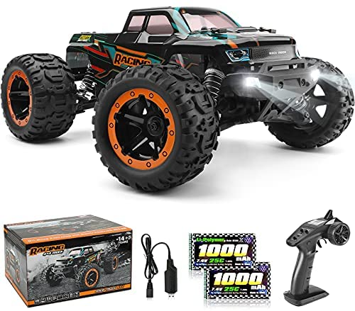51xkMYbGVUS. AC  - HAIBOXING 1:16 Scale RC Cars 16889, 36Km/h high Speed Hobby Remote Control Car with 2.4GHz Radio Controller, All Terrain Waterproof Off-Road RC Trucks with 2 Batteries for Kids and Adults