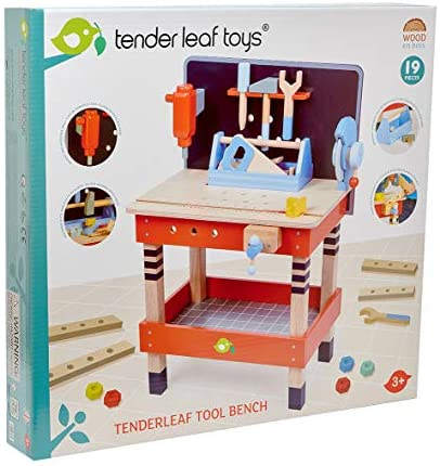 51xvbQ70XaL. AC  - Tender Leaf Toys - Tender Leaf Tool Bench - 18 Pieces Pretend Play Construction Tool Set Made with Premium Materials and Craftsmanship - Creates Interest in DIY and Creative Role Play for Children 3+