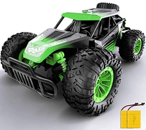 51y fItuqEL. AC  - Remote Control Car, Gizmovine 1:14 Scale Large Electric Drift RC Cars, High Speed Waterproof Race Cars for Boys Adults, 2.4GHz Off Road RC Trucks Buggy Toys with 2 Rechargeable Battery (Green)