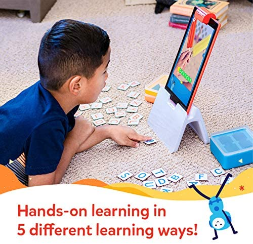 51ylDBxB80L. AC  - Osmo - Genius Starter Kit for Fire Tablet -Ages 6-10 - Math, Spelling, Creativity & More - STEM Toy (Osmo iPad Base Included), 5 Educational Learning Games (Amazon Exclusive)