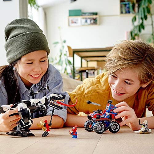 51zZ6AE+4uL. AC  - LEGO Marvel Spider-Man Venomosaurus Ambush 76151 Building Toy with Superhero Minifigures; Popular Holiday and Birthday Present for Kids who Love Spider-Man Construction Toys, New 2020 (640 Pieces)