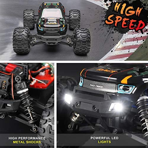51zvTqte6ML. AC  - Remote Control Car 16889, 1:16 Scale 2.4Ghz RC Cars 4x4 Off Road Trucks, Waterproof RTR RC Monster Truck 36KM/H, Remote Controlled Toys for Kids and Adults with 2 Batteries 35+ mins Play