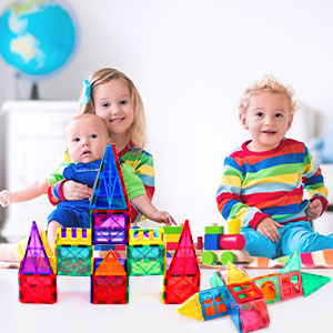 526aab8b c1ac 4ccd 989a fe6e9cc1f009.  CR0,0,300,300 PT0 SX300 V1    - VATENIC 120PCS Kids Magnetic Tiles Building Blocks 2 Car Set Color Magnetic Blocks Toys for Kids Children,Educational Learning Building Toys Birthday Gifts for Boys Girls Age 3 4 5 6 7 8 9 10 Year Old