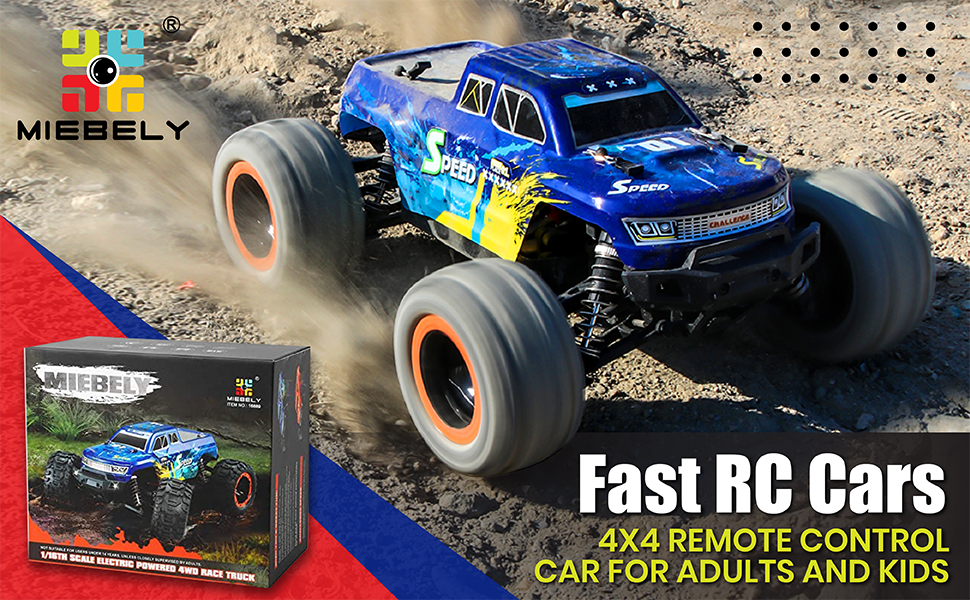 5a852d84 3336 4bd8 9288 951e96d7e317.  CR0,0,970,600 PT0 SX970 V1    - MIEBELY Fast RC Cars – 4x4 Remote Control Car for Adults and Kids – 1:16 Scale Electric Powered 40km High Speed – 4WD All Terrain Off Road Truck – Ideal for Kids and Adults – 2 Rechargeable Batteries