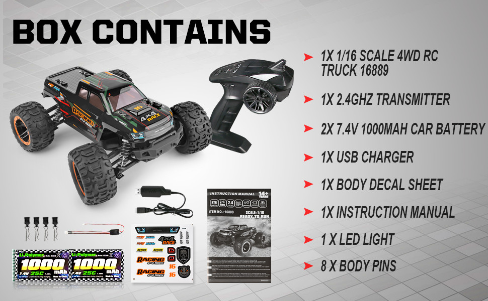 5bb4046b 54cb 4abf b9b0 3efc22001ce3.  CR0,0,970,600 PT0 SX970 V1    - Remote Control Car 16889, 1:16 Scale 2.4Ghz RC Cars 4x4 Off Road Trucks, Waterproof RTR RC Monster Truck 36KM/H, Remote Controlled Toys for Kids and Adults with 2 Batteries 35+ mins Play