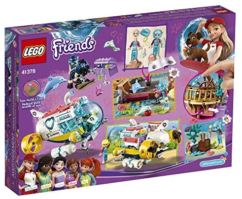 61+QbnHz+pL. AC  - LEGO Friends Dolphins Rescue Mission 41378 Building Kit with Toy Submarine and Sea Creatures, Fun Sea Life Playset with Kacey and Stephanie Minifigures for Group Play (363 Pieces)