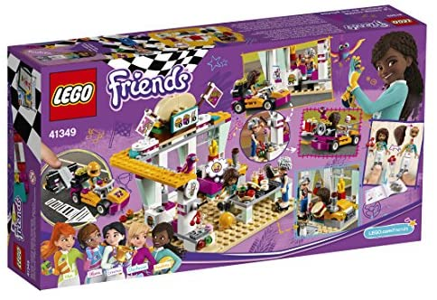 61+fncc hAL. AC  - LEGO Friends Drifting Diner 41349 Race Car and Go-Kart Toy Building Kit for Kids, Best Creative Gift for Girls and Boys (345 Pieces) (Discontinued by Manufacturer)