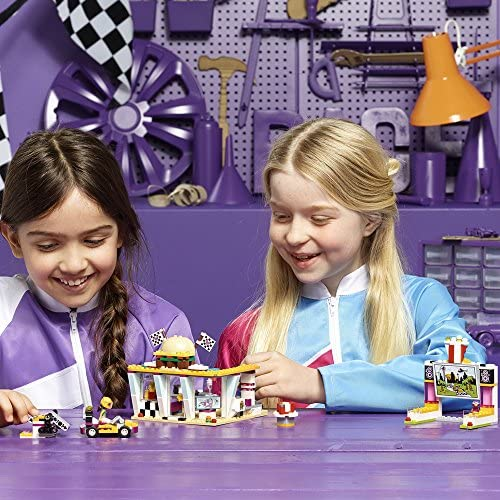 610kQkLR+5L. AC  - LEGO Friends Drifting Diner 41349 Race Car and Go-Kart Toy Building Kit for Kids, Best Creative Gift for Girls and Boys (345 Pieces) (Discontinued by Manufacturer)