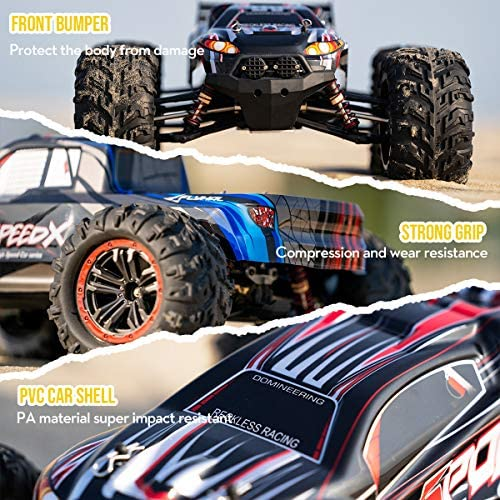 611mvE6IvWL. AC  - FLYHAL X04 PRO Remote Control Car RC Car 52km/h 32MPH 1:10 Scale 4WD Off-Road Rc Car for Adults and Kids Replaceable Car Shell 2.4 GHz Truck (2 Batteries)