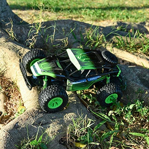 613GL1lK6sL. AC  - Remote Control Car, Gizmovine 1:14 Scale Large Electric Drift RC Cars, High Speed Waterproof Race Cars for Boys Adults, 2.4GHz Off Road RC Trucks Buggy Toys with 2 Rechargeable Battery (Green)