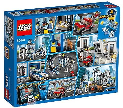 613mu1zpizL. AC  - LEGO City Police Station 60141 Building Kit with Cop Car, Jail Cell, and Helicopter, Top Toy and Play Set for Boys and Girls (894 Pieces) (Discontinued by Manufacturer)