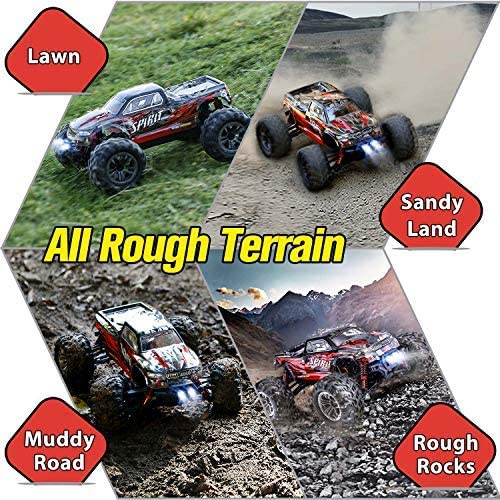 61AKxp6pfpL. AC  - HisHerToy Remote Control Car for Adults Boys Girls Big RC Trucks for Adults IPX4 Waterproof Off Road RC Cars for Adults Kids 1:16 // 36km/h Monster Hobby Cross-Country Buggy with Headlights