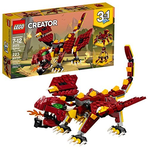 61ELGeZJhJL. AC  - LEGO Creator 3in1 Mythical Creatures 31073 Building Kit (223 Pieces) (Discontinued by Manufacturer)