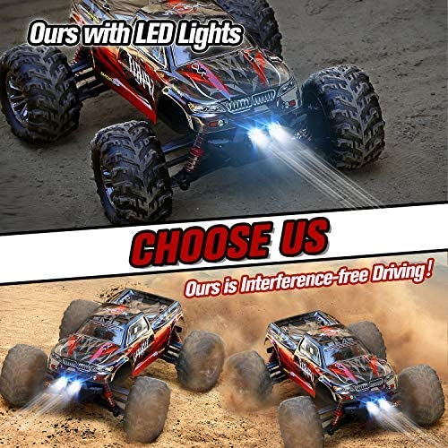 61FGaMJD01L. AC  - HisHerToy Remote Control Car for Adults Boys Girls Big RC Trucks for Adults IPX4 Waterproof Off Road RC Cars for Adults Kids 1:16 // 36km/h Monster Hobby Cross-Country Buggy with Headlights