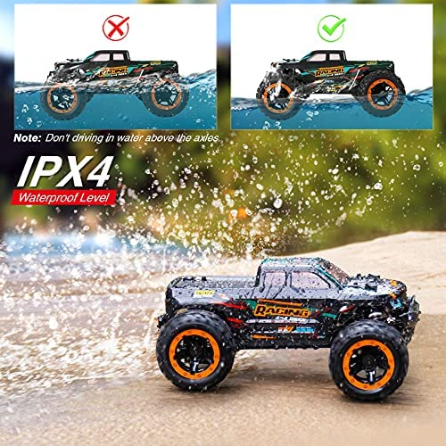 61J4fGG 4GS. AC  - HAIBOXING 1:16 Scale RC Cars 16889, 36Km/h high Speed Hobby Remote Control Car with 2.4GHz Radio Controller, All Terrain Waterproof Off-Road RC Trucks with 2 Batteries for Kids and Adults