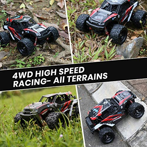 61N0 0b5TUL. AC  - RC Cars,36KM/H High Speed Remote Control Car for Adults,1/18 Remote Control Truck 4x4 All Terrain Off Road Monster Truck,Fast RC Trucks 2.4GHz Two Rechargeable Batteries Included for Boys 8-12
