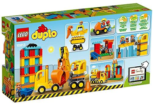61T6wfwo84L. AC  - LEGO DUPLO Big Construction Site 10813 Building Set with Toy Dump Truck, Toy Crane and Toy Bulldozer for a Complete Toddler Construction Toy Set (67 Pieces)