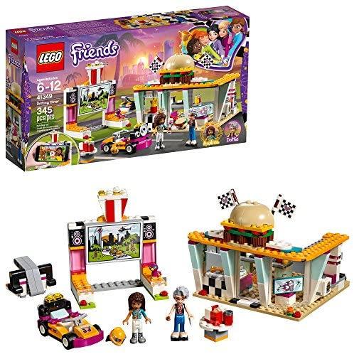 61VhSOA NdL. AC  - LEGO Friends Drifting Diner 41349 Race Car and Go-Kart Toy Building Kit for Kids, Best Creative Gift for Girls and Boys (345 Pieces) (Discontinued by Manufacturer)