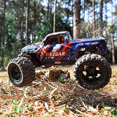 61WsMa48htL. AC  - BEZGAR 7 Hobby Grade 1:16 Scale Remote Control Truck, 4WD High Speed 40+ Kmh All Terrains Electric Toy Off Road RC Monster Vehicle Car Crawler with Rechargeable Batteries for Boys Kids and Adults