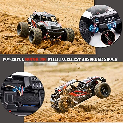 61ccemW78mL. AC  - RC Cars,36KM/H High Speed Remote Control Car for Adults,1/18 Remote Control Truck 4x4 All Terrain Off Road Monster Truck,Fast RC Trucks 2.4GHz Two Rechargeable Batteries Included for Boys 8-12