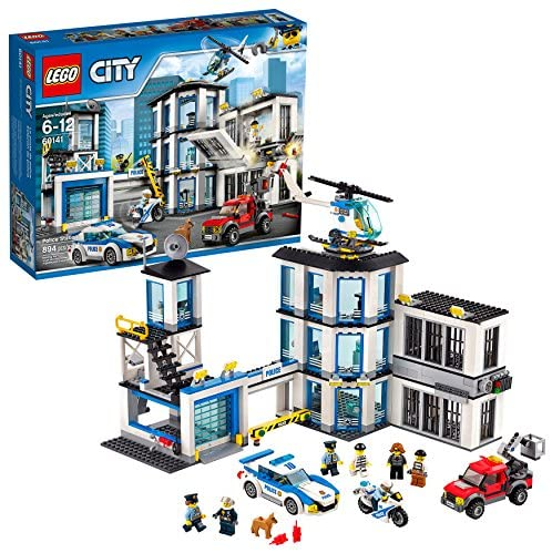 61dz0r9ZTaL. AC  - LEGO City Police Station 60141 Building Kit with Cop Car, Jail Cell, and Helicopter, Top Toy and Play Set for Boys and Girls (894 Pieces) (Discontinued by Manufacturer)