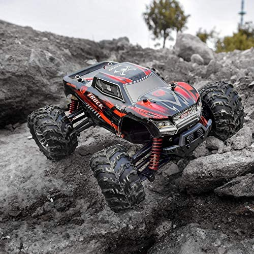 61h2SeQ2T1L. AC  - BEZGAR 5 Hobby Grade 1:20 Scale Remote Control Truck, 4WD High Speed 30+ Kmh All Terrains Electric Toy Off Road RC Monster Vehicle Car Crawler with Rechargeable Batteries for Boys Kids and Adults