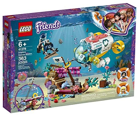 61k2szuGl8L. AC  - LEGO Friends Dolphins Rescue Mission 41378 Building Kit with Toy Submarine and Sea Creatures, Fun Sea Life Playset with Kacey and Stephanie Minifigures for Group Play (363 Pieces)