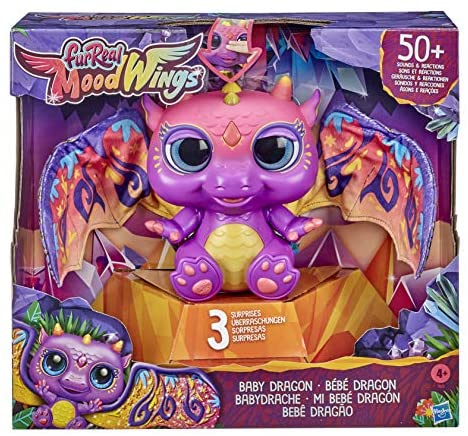61krsX3rI3L. AC  - furReal Moodwings Baby Dragon Interactive Pet Toy, 50+ Sounds & Reactions, Ages 4 and Up