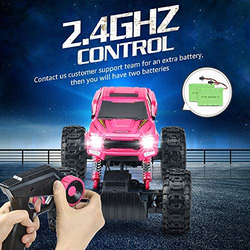 61mLncTZnvL. AC  - DOUBLE E RC Cars Newest 1:12 Scale Remote Control Car with Rechargeable Batteries and Dual Motors Off Road RC Trucks,High Speed Racing Car for Kids