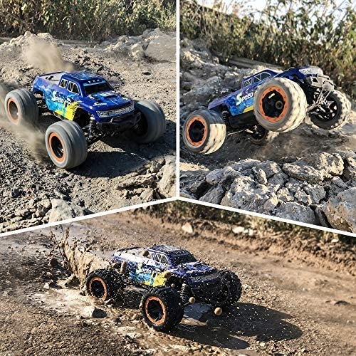 61psfgagesL. AC  - MIEBELY Fast RC Cars – 4x4 Remote Control Car for Adults and Kids – 1:16 Scale Electric Powered 40km High Speed – 4WD All Terrain Off Road Truck – Ideal for Kids and Adults – 2 Rechargeable Batteries