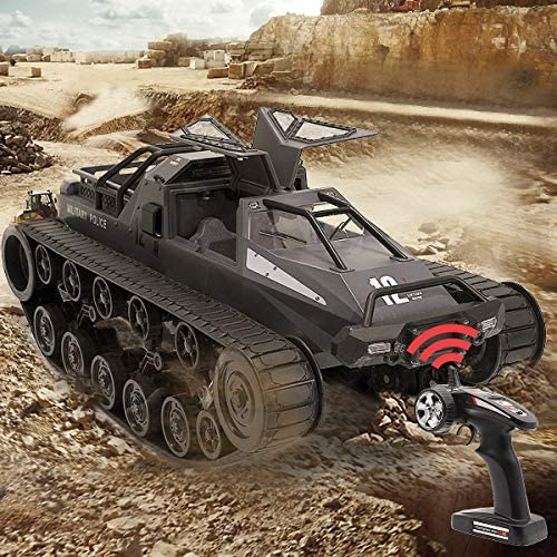 61rrquILD3L. AC  - Mostop Remote Control Crawler High Speed Tank Off-Road 4WD RC Car 2.4 Ghz RC Army Truck 1/12 Drift Tank RC Tank for Kids Adults