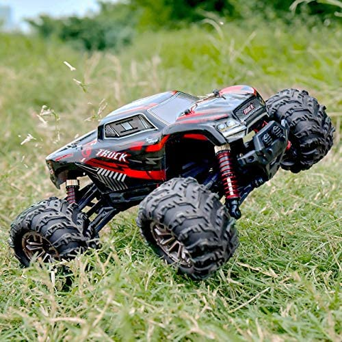 61vB0kOynaL. AC  - BEZGAR 5 Hobby Grade 1:20 Scale Remote Control Truck, 4WD High Speed 30+ Kmh All Terrains Electric Toy Off Road RC Monster Vehicle Car Crawler with Rechargeable Batteries for Boys Kids and Adults