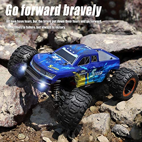 61vcDnlTKgL. AC  - MIEBELY Fast RC Cars – 4x4 Remote Control Car for Adults and Kids – 1:16 Scale Electric Powered 40km High Speed – 4WD All Terrain Off Road Truck – Ideal for Kids and Adults – 2 Rechargeable Batteries