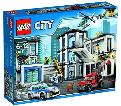 61wxIHg+CNL. AC  - LEGO City Police Station 60141 Building Kit with Cop Car, Jail Cell, and Helicopter, Top Toy and Play Set for Boys and Girls (894 Pieces) (Discontinued by Manufacturer)