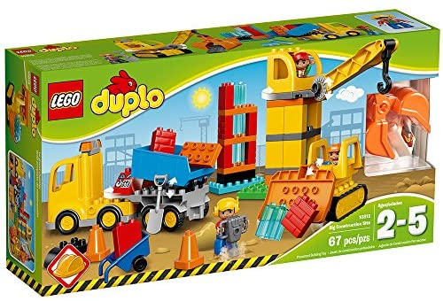 61wyvy41IyL. AC  - LEGO DUPLO Big Construction Site 10813 Building Set with Toy Dump Truck, Toy Crane and Toy Bulldozer for a Complete Toddler Construction Toy Set (67 Pieces)