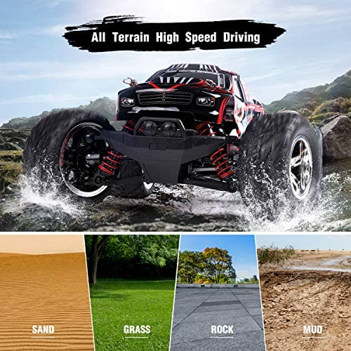 61ytfrrD72L. AC  - EACHINE Remote Control Car for Kids Adults,EC09 RC Car High Speed 1:20Scale 40+ KM/H 4WD Off Road Monster Trucks,2.4GHz All Terrain Toy Trucks with 2 Rechargeable Battery,40+ Min Play Gifts for Boys