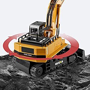 65d079b3 06ea 4770 b498 97f267d6986a.  CR0,0,600,600 PT0 SX300 V1    - Fisca Remote Control Excavator RC Digger, 2.4Ghz 11 Channel Construction Vehicle Full Function Toy Metal Shovel with Lights and Sound