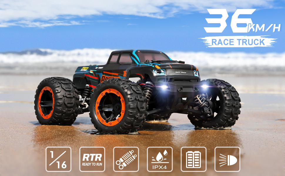 6926749f acfa 479d a460 1418b378a4b6.  CR0,0,970,600 PT0 SX970 V1    - HAIBOXING 1:16 Scale RC Cars 16889, 36Km/h high Speed Hobby Remote Control Car with 2.4GHz Radio Controller, All Terrain Waterproof Off-Road RC Trucks with 2 Batteries for Kids and Adults