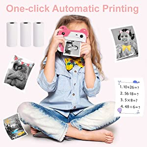 6ac22d20 f60b 4be0 a366 0a955fdc8657.  CR0,0,600,600 PT0 SX300 V1    - PROGRACE Kids Print Camera Instant Print Camera for Kids Travel Learning Birthday Gift Portable Digital Creative Print Camera for Girls Zero Ink Kids Camera Toy Toddler Camera with Print Paper(Pink)