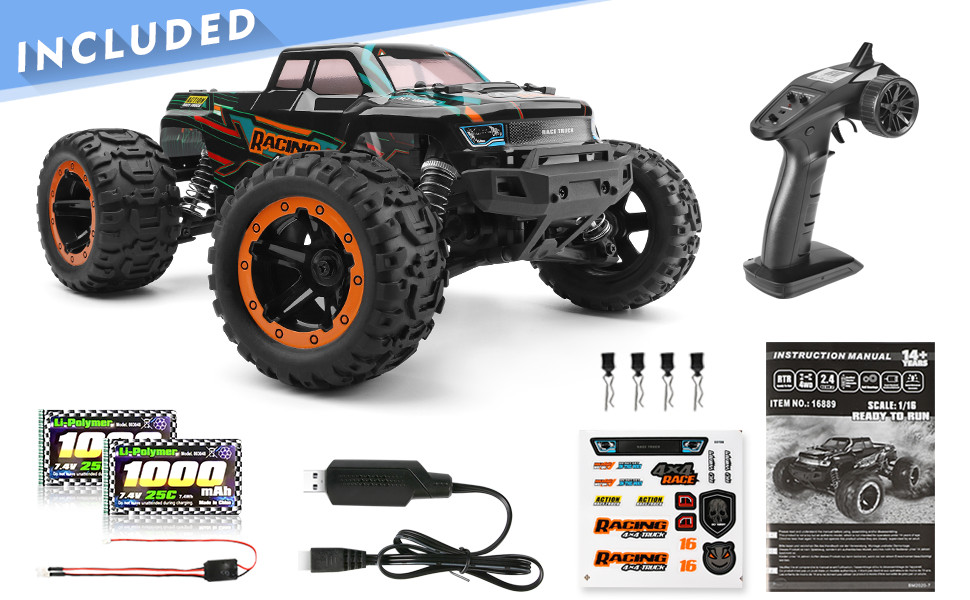 6e66f9f3 a143 49cc aa56 1fb1f82a43a9.  CR0,0,970,600 PT0 SX970 V1    - HAIBOXING 1:16 Scale RC Cars 16889, 36Km/h high Speed Hobby Remote Control Car with 2.4GHz Radio Controller, All Terrain Waterproof Off-Road RC Trucks with 2 Batteries for Kids and Adults