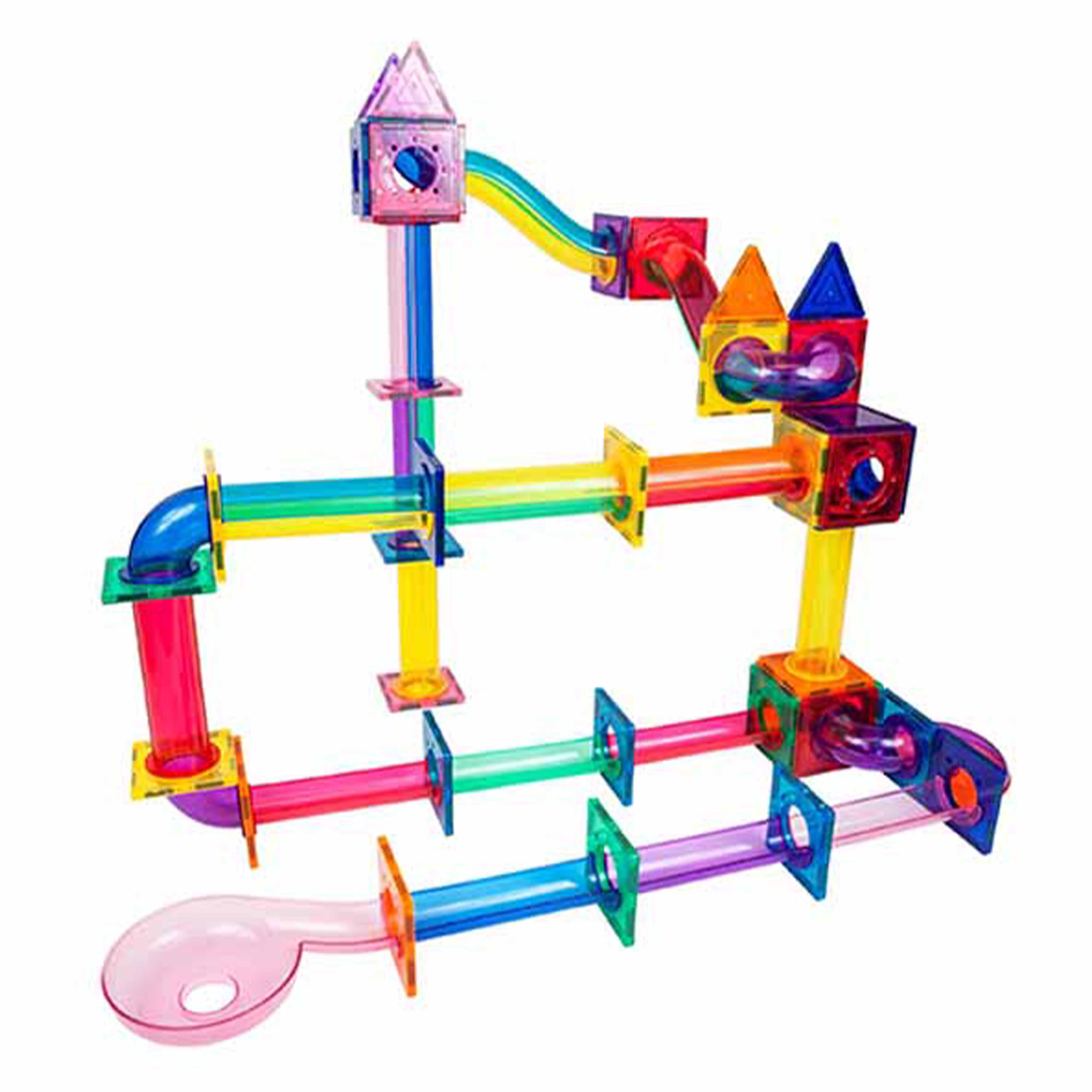 6e973bc6 b64e 4df8 9e53 aa6db11b88c9.  - PicassoTiles Marble Run 120 Piece Magnetic Building Blocks Magnet Tile Construction Toy Playset STEM Learning Educational Block Child Brain Development Kids Toys for Boys and Girls Age 3 and Up