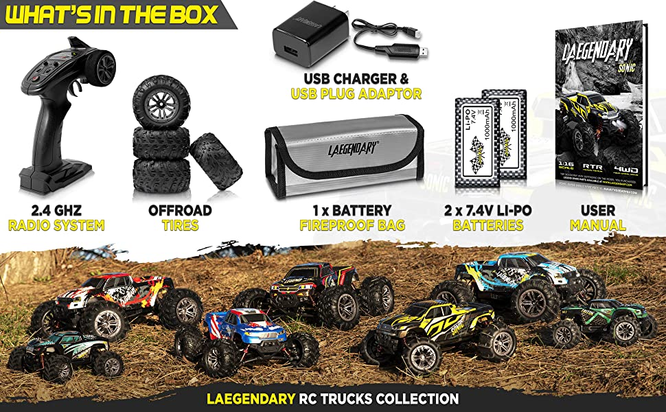73587295 9636 489e b1b7 f1b96aa44dab.  CR0,0,3880,2400 PT0 SX970 V1    - 1:16 Brushless Large RC Cars 55+ kmh Speed - Kids and Adults Remote Control Car 4x4 Off Road Monster Truck Electric - All Terrain Waterproof Toys Trucks for Boys, Girls - 2 Batteries for 40+ Min Play