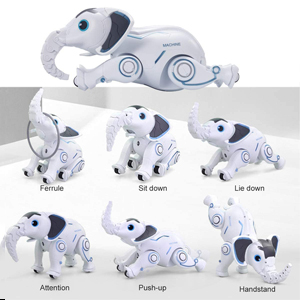 7487cbb3 d431 48ba 9ce3 dbe36261c670.  CR0,0,300,300 PT0 SX300 V1    - WomToy Remote Control Robot Elephant Toy, RC Robotic Toys Singing Dancing Interactive Children Toy Early Educational Imitates Animals for Boys and Girls, Ages 3 and Up (Elephant)