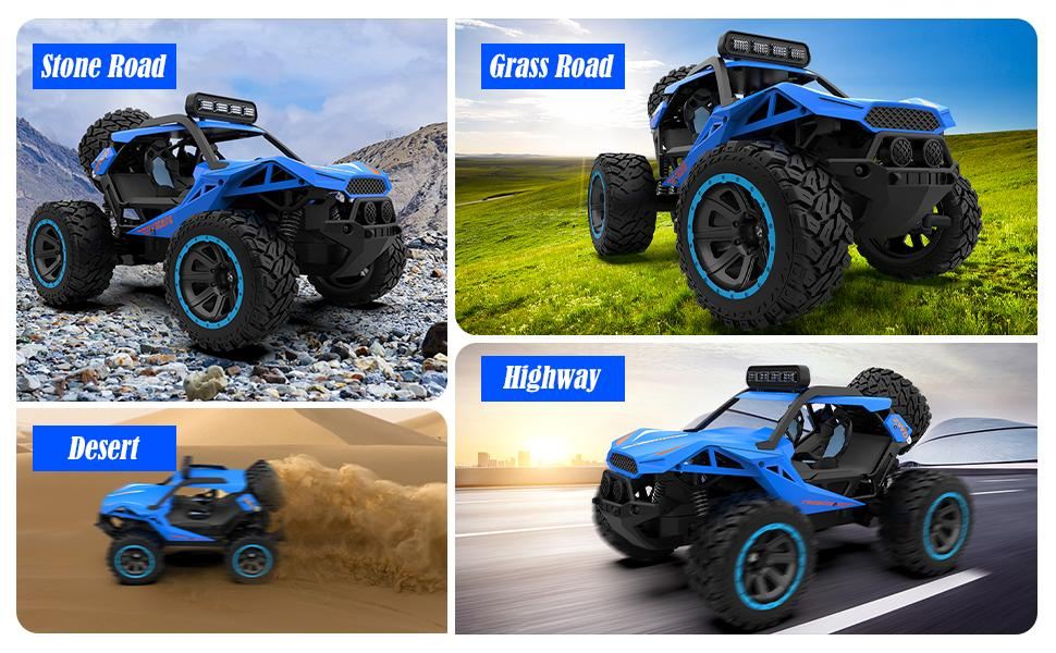 7699cd19 96f2 48cb bbaa 1c3b6f0cf20c.  CR0,0,970,600 PT0 SX970 V1    - RC Cars Remote Control Car 1:12 High Speed 25 Km/h Rechargeable Monster Truck Remote Control with LED Light 2.4Ghz 2WD Powerful Motor Off Road Rock Crawler Vehicle Toys Cars for Boys Girls Kids, Red