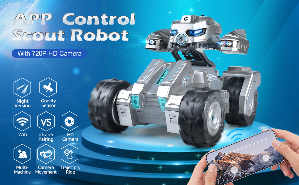 7a47a391 7bc5 4211 a7a7 9d88b9c16c30.  CR0,0,970,600 PT0 SX970 V1    - RC Car Remote Control Car with 720P HD FPV Camera 1/18 Remote Control Truck Gravity Sensor Rc Truck for Kids Versus Mode Rock Crawler Car Gift for Boys and Girls (Updated Android App)